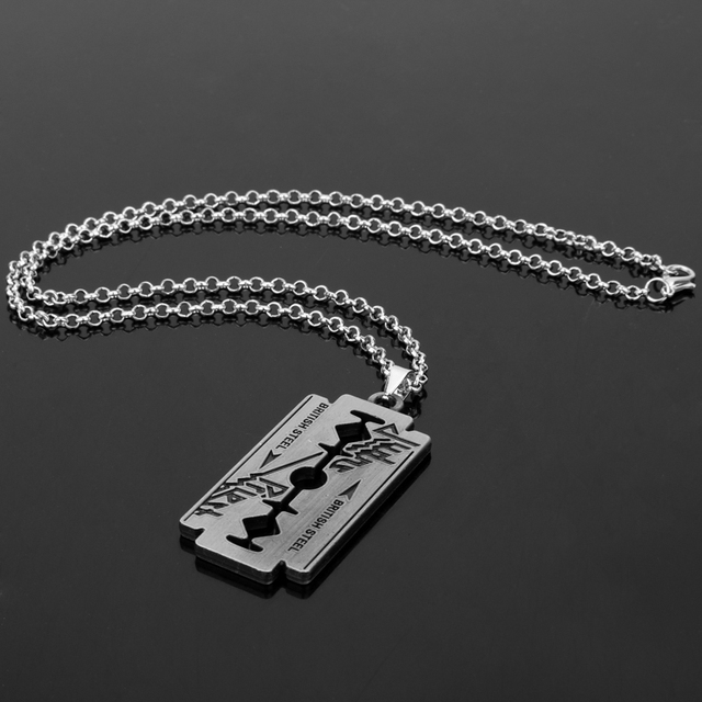 Razor Blade Chain Necklace 10