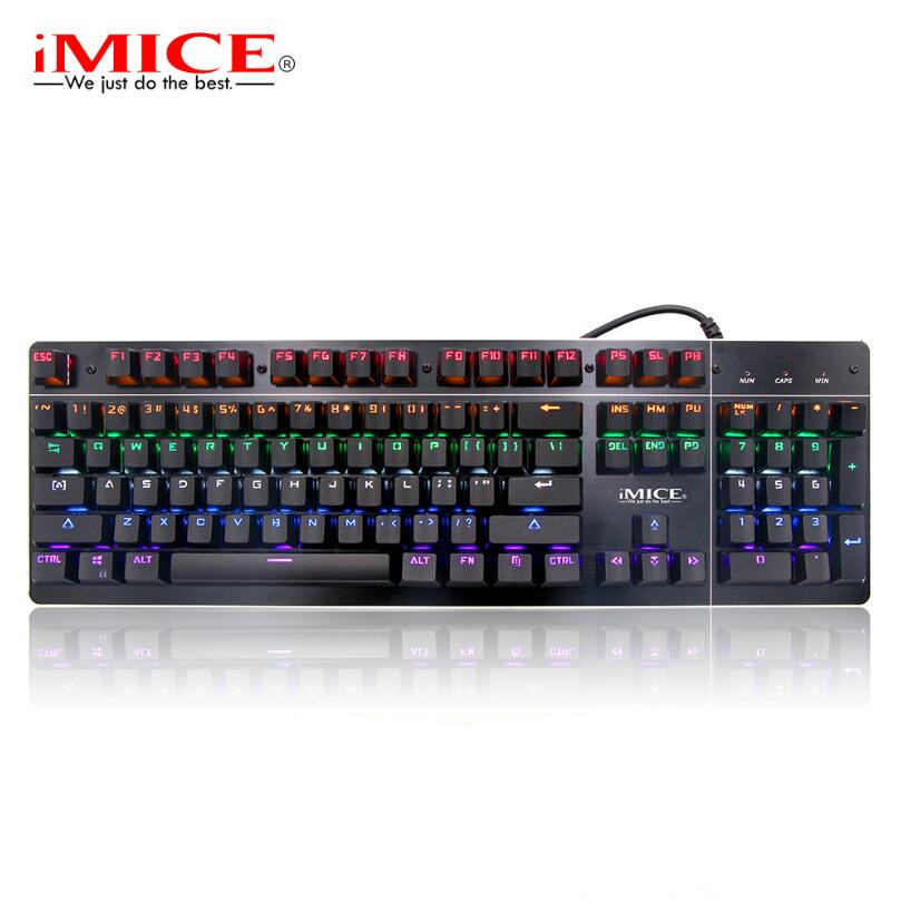 IMICE MK-X8 câble lumineux esports machine axe vert clavier de jeu avec clavier enfichable.