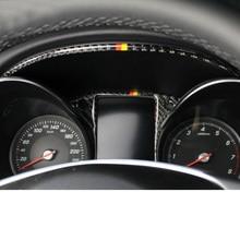 Lsrtw2017 auto in fibra di carbonio cruscotto cornice dello schermo trim per mercedes benz w205 x253 glc200 glc300 glc260 c180 c200 c300 glc250