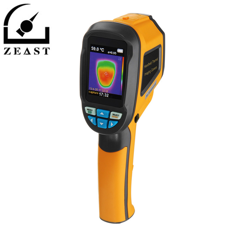 HT02 Handheld Thermograph Camera Infrared Thermal Camera Digital Infrared Imager Temperature Tester with 2 4inch LCD