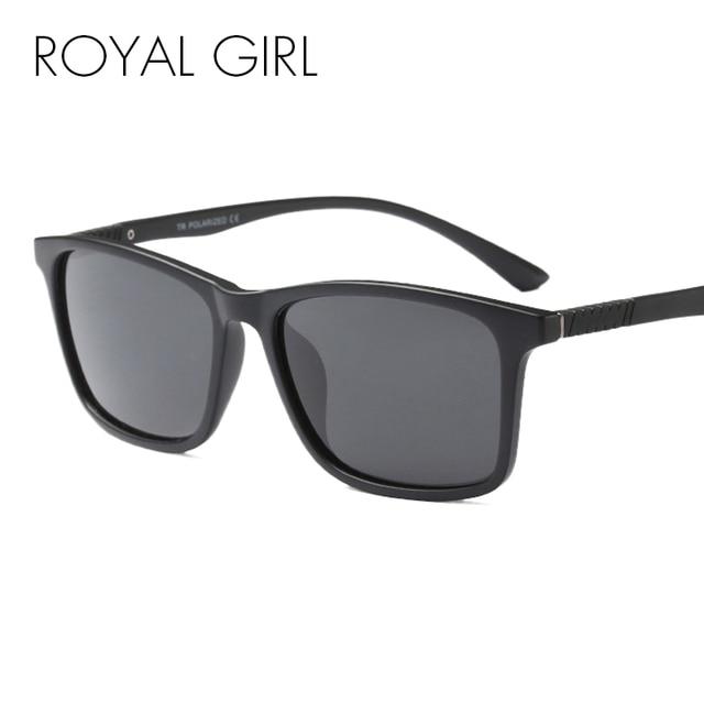 a5d69aea55ab3 MENINA REAL Do Vintage Óculos De Sol Dos Homens Polarizados Condução Black  Frame Óculos de Sol