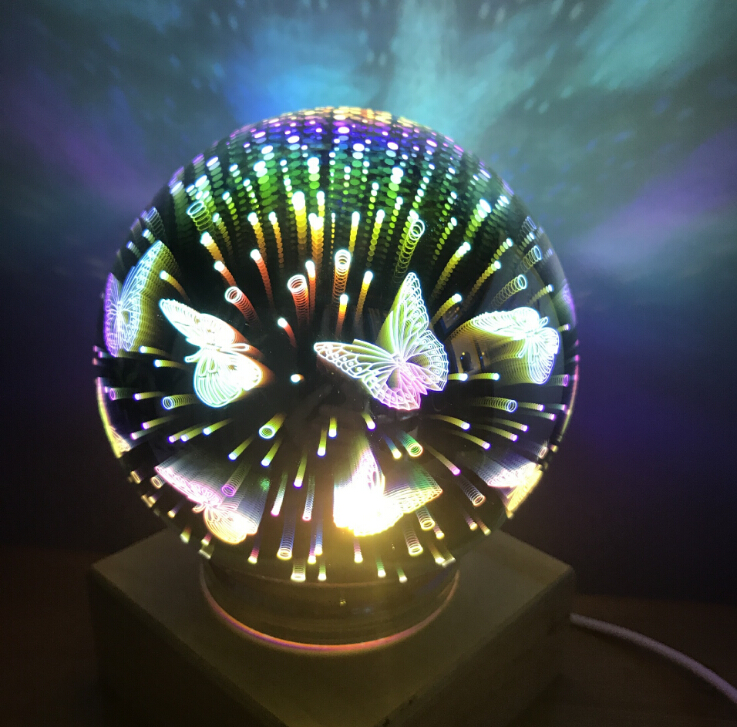 Magic Ball Colorful Glass Ball Lamp 3d Starry Sky Night Light USB Power For Kids Bedroom Decoration Christmas Light Gifts