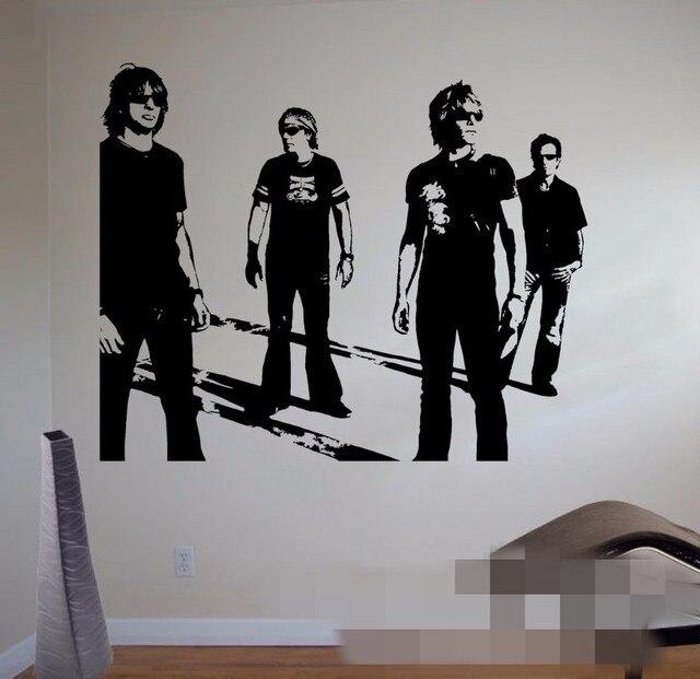 Pengiriman gratis jon bon jovi dinding decal terkenal rock band vinyl sticker musik art dekorasi bar