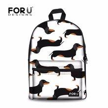 FORUDESIGNS School Backpack for Girls Doxie Dachshund Sausage Dog Printing  School Bags Children Backpacks Schoolbag Kids 1df666ff0dc1c