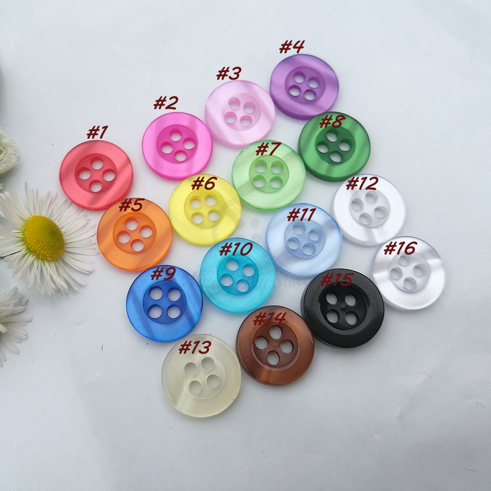 100 clear round 2 holes resin buttons approx 11mm eye 50 150pcs