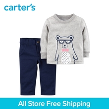 Carter's 2-Piece baby children kids clothing Boy Spring & Fall Bear Jersey Top & French Terry Pant Set 127H178