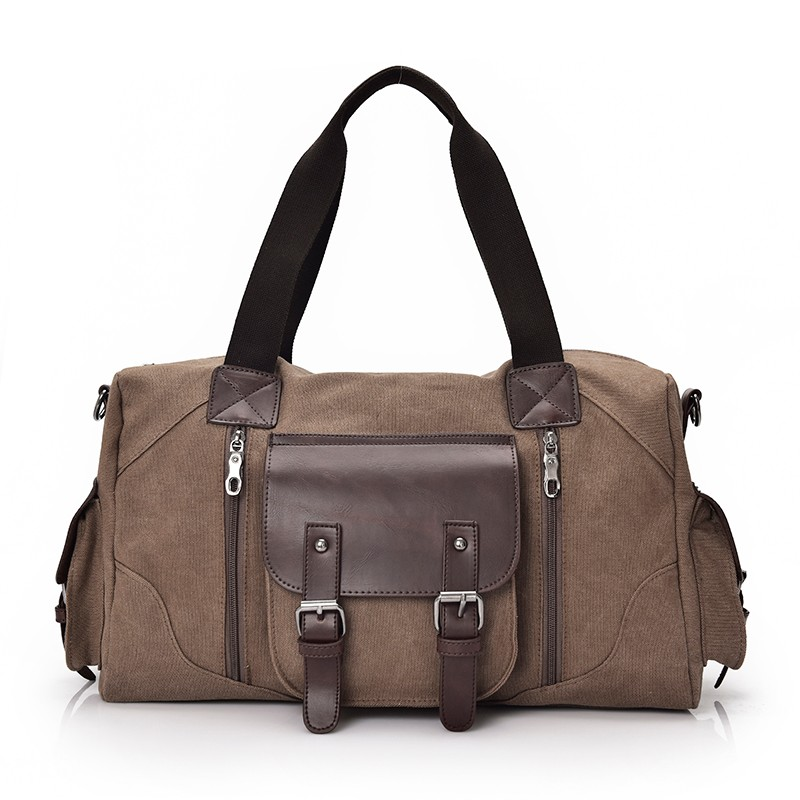 Famous Brand Men Vintage Canvas Men Travel Bags Women Weekend Carry On Luggage & Bags Leisure Duffle Bag Large Capacity Handbags (1)