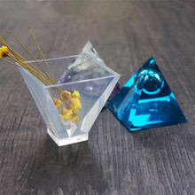 Silicone Mold 60*60*60mm Pyramid charms pendant Resin Mould handmade crystal Jewelry Making epoxy resin molds