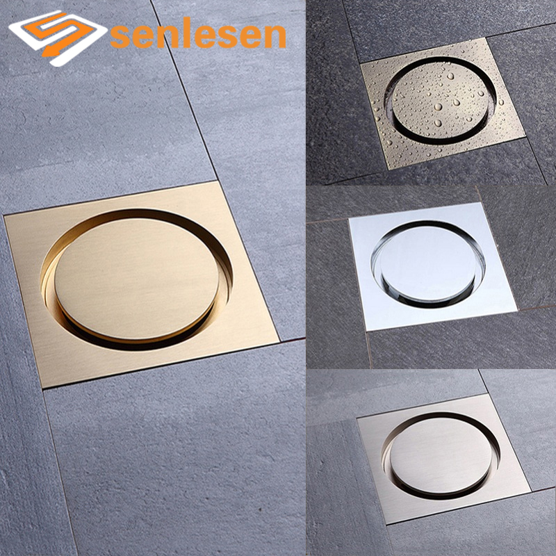 Free Shipping Bathroom Floor Drain High Quality Chrome Finish / Brushed Nickel / Gold Finish / Antique Brass free shipping wholesale and reatil nickel brushed finished stainless steel floor drain