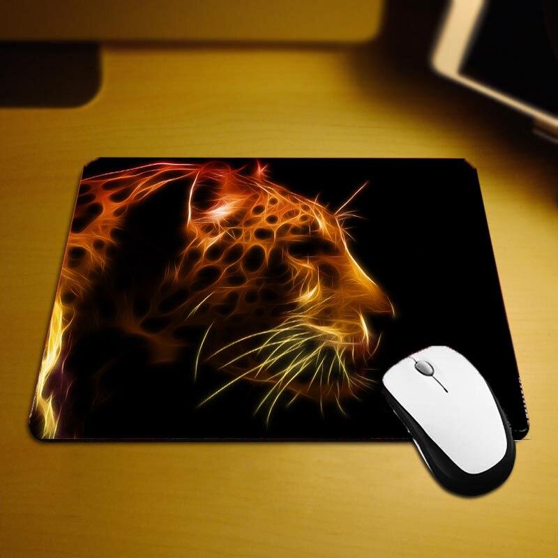 Mairuige Unlocked Edge Creative Mini Szie Table Mat Mouse Pad High Quality Deskmat Animals Pattern Leopard Diy Pc Gaming Mats
