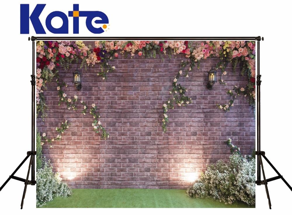 Kate Spring Photography Backdrops Flower Wall Background  Customize Backdrops Beautiful Wedding Backdrop сумка kate spade new york wkru2816 kate spade hanna