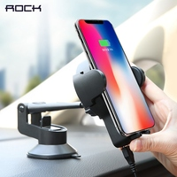 Qi Car Wireless Charger For IPhone X 8 ROCK 5W Wireless Car Charger For Samsung Car