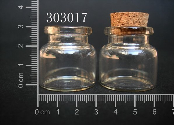 10 pcs 10ml 30x30mm Small Clear Glass Bottle Vial Pendant With Cork and Hook For Wedding Holiday Decoration Christmas Gifts