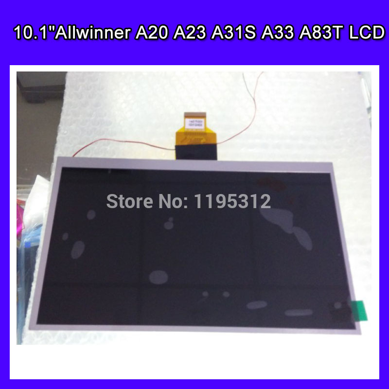 Replacement LCD Display Matrix 10.1Allwinner A20 A23 A31S A33 A83T tablet TFT LCD Screen Panel resolutation 1024*600 232 142mm 1024 600 table pc 10 1 inch for allwinner a10 a13 tft lcd display screen hw101f 0a 0e 10 20