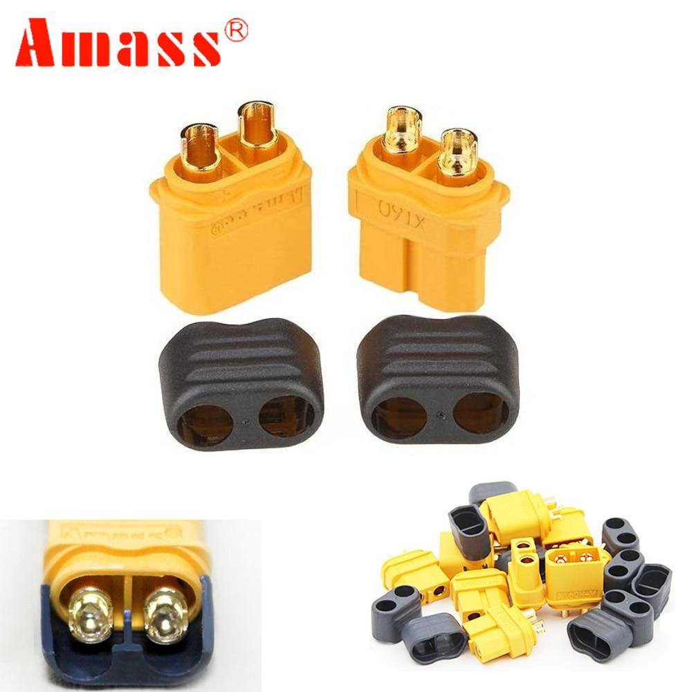 50 pair Amass XT60+ Plug Connector With Sheath Housing Male & Female For RC Lipo Battery FPV Quadcopter ec2 connecteur banane male a xt60 plug adaptateur femelle pour rc lipo batterie t026
