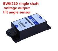 Rápido envío gratis transductor de ángulo bwk210 solo eje salida de tensión inclinación Sensores de ángulo módulo del sensor transductor angular