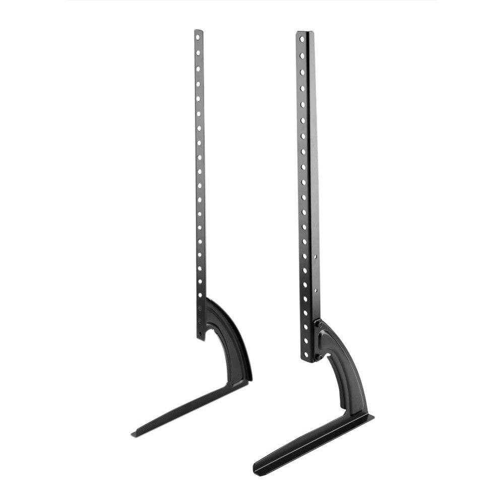 39 65inch flat screen tv stand adjustable height desktop table top mount bracket holder for most. Black Bedroom Furniture Sets. Home Design Ideas
