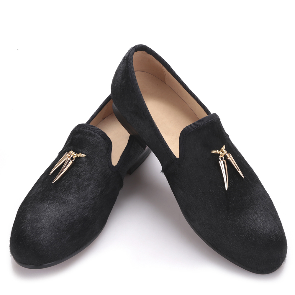 style horsehair men shoes with metal Shark tooth shape tassel British style smoking slipper party and prom style horsehair men shoes with metal Shark tooth shape tassel British style smoking slipper party and prom