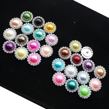 2016Hotshank rhinestone buttons round 21mm estseller 10pcs White Color Round Rhinestone Butttons Sewing Accessories colour Holes