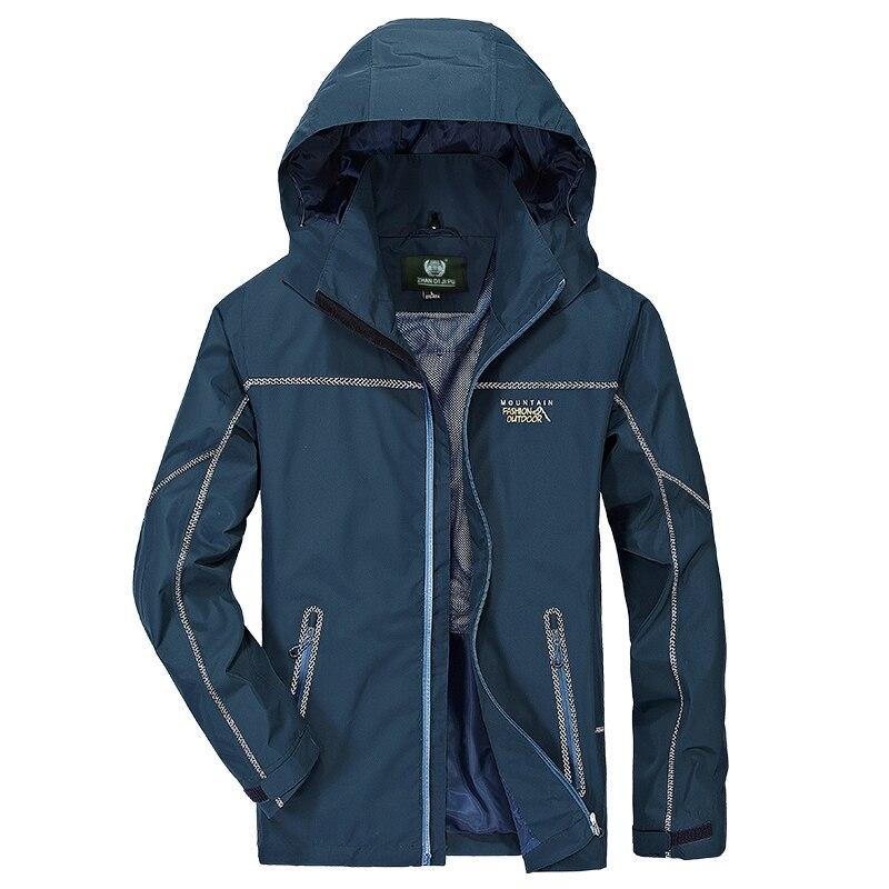 Nouveau Hommes Vêtements 2018 Automne Coupe-Vent Imperméable À Séchage rapide Veste Casual jaqueta masculina Hommes de Survêtement Plus La Taille 4XL