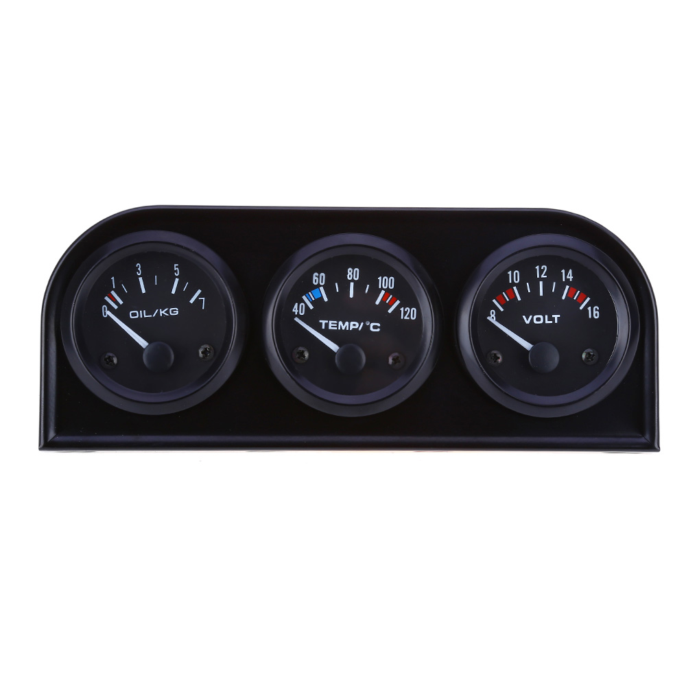 B734 52MM 3 in 1 Car Auto Gauge Voltmeter Water Temperature Oil Pressure Sensor Triple Kit-in Oil Pressure Gauges from Automobiles & Motorcycles