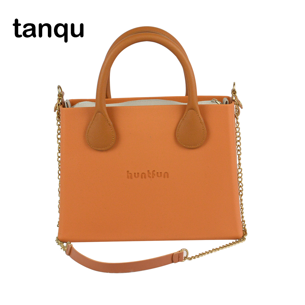 tanqu O bag style huntfun square Bag with leather Handle Shoulder Chain colorful waterproof Insert women EVA Obag tanqu tela insert lining for o chic ochic colorful canvas inner pocket waterproof inner pocket for obag