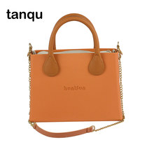tanqu O bag style huntfun square Bag with leather Handle Shoulder Chain colorful waterproof Insert women EVA Obag(China)
