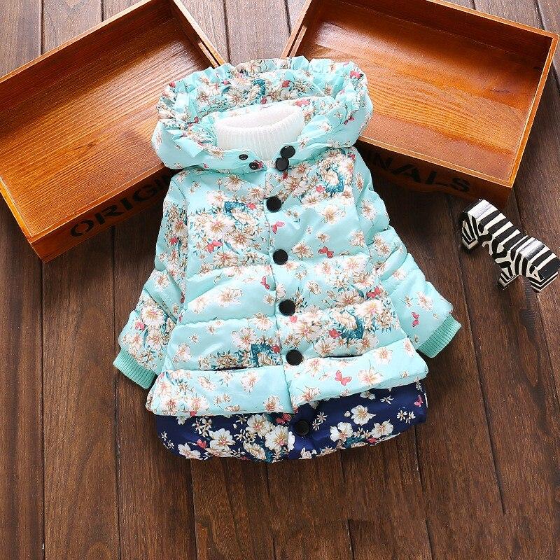 Baby Girls Hooded Jackets Girls Fashion Minnie Mickey Cartoon Children Clothing Coat Baby Kids Winter Warm Outerwear Jackets 5