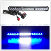 09013 18 LED High Power Strobe Light Fireman Flashing Emergency Warning Fire Flash Car Truck Yellow White Blue Amber Red
