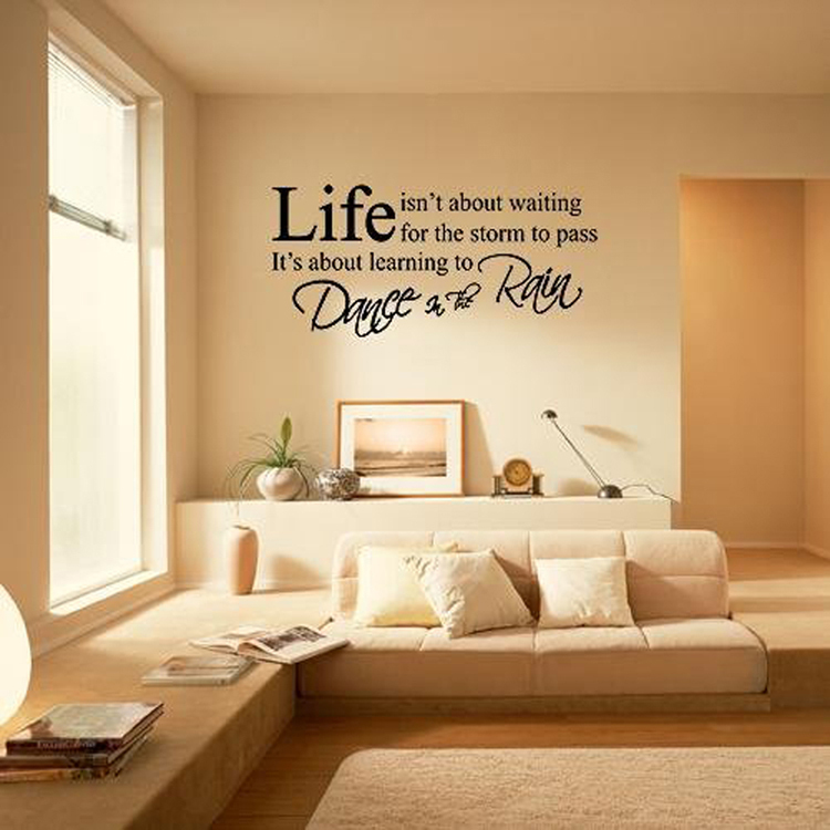 English Letters Living Room Bedroom Wall Stickers Color Black Home Decoration Dropshipping China Mainland