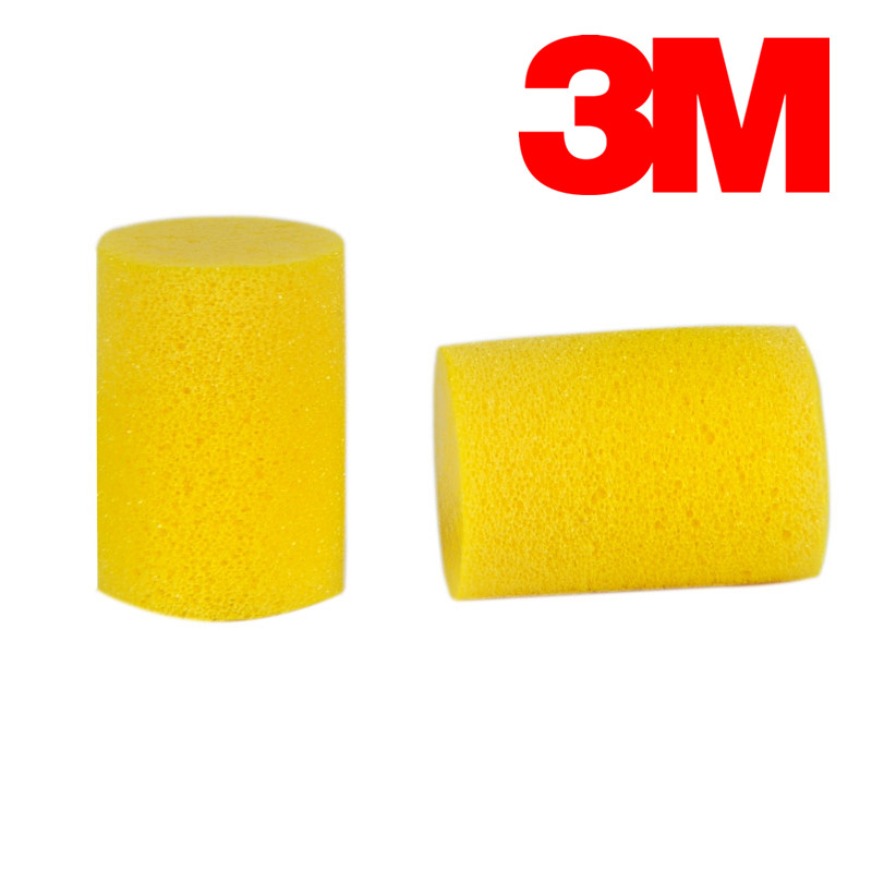 10pcs/Lot 3M 312-1213 Anti-noise Classic Earplugs Small For Child Women's Sleep Yellow Earplugs  VEN001