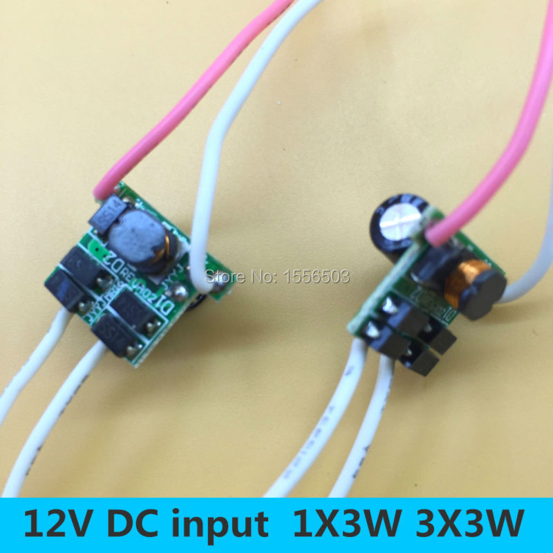 10 PCS LED Driver 4 Wire 1-3X3W Lamp Transformer Light Power Supply Power Driver 12V 600ma for underwater led flood light