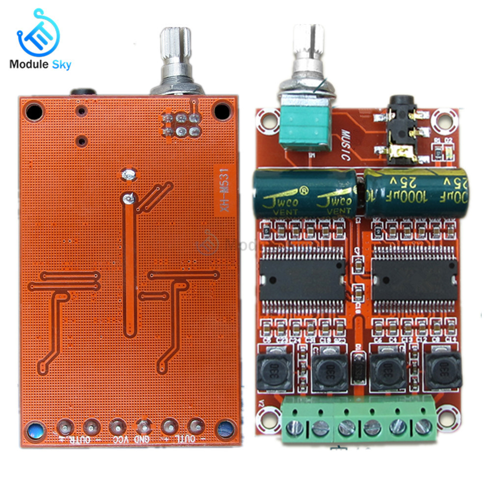 YDA138-E Digital Amplifier Board 2*20W Dual Channel HIFI Stereo Class D Audio Amplifier Board Speaker Sound Module