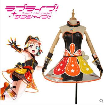 Hot Anime LoveLive!Sunshine! COSPLAY Takami Chika COS Halloween Party sweet and cute Lolita Game style Costumes