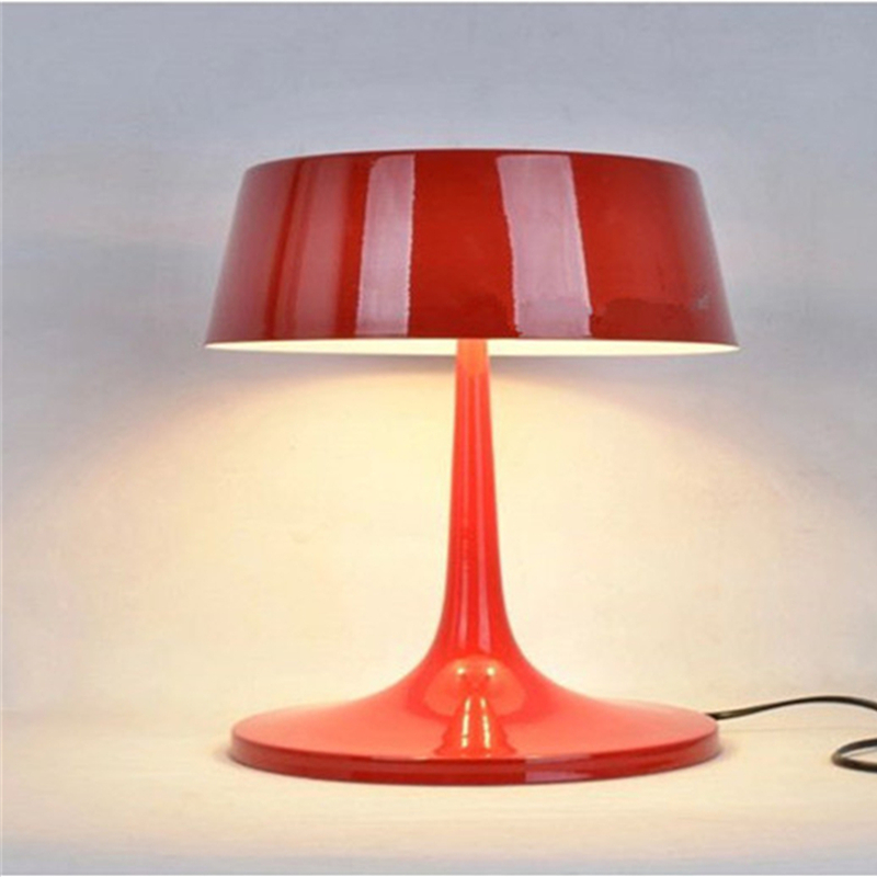White Red Black Contemporary Metal Table Lamp Designer Antique Iron