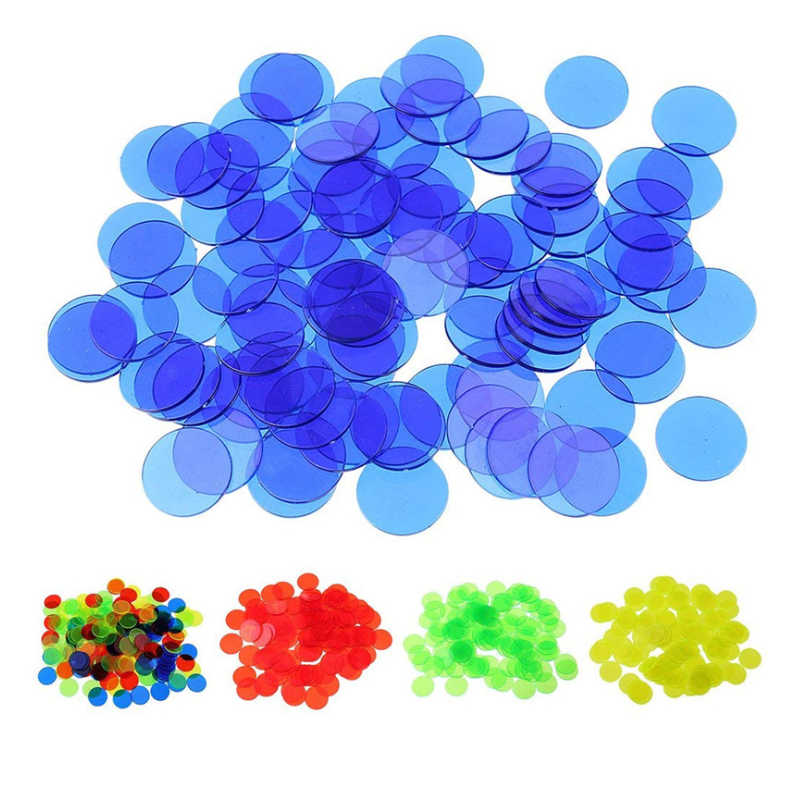 100pcs Count Bingo Chips Markers for Bingo Game Cards Plastic for Classroom Children and Carnival Bingo Games