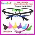 200 pcs T2600 cores de óculos de sol óculos de crianças e adultos Silicone Anti Slip gancho do ouvido esportivos de ponta templo titular frete grátis