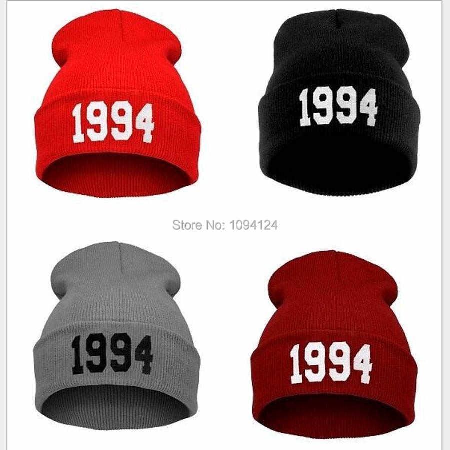 ee4ee368212 Women Winter Hats Number 1994 Justin Bieber Style Men Hip Pop Skullies  Beanies Gorro Adult Sombreros