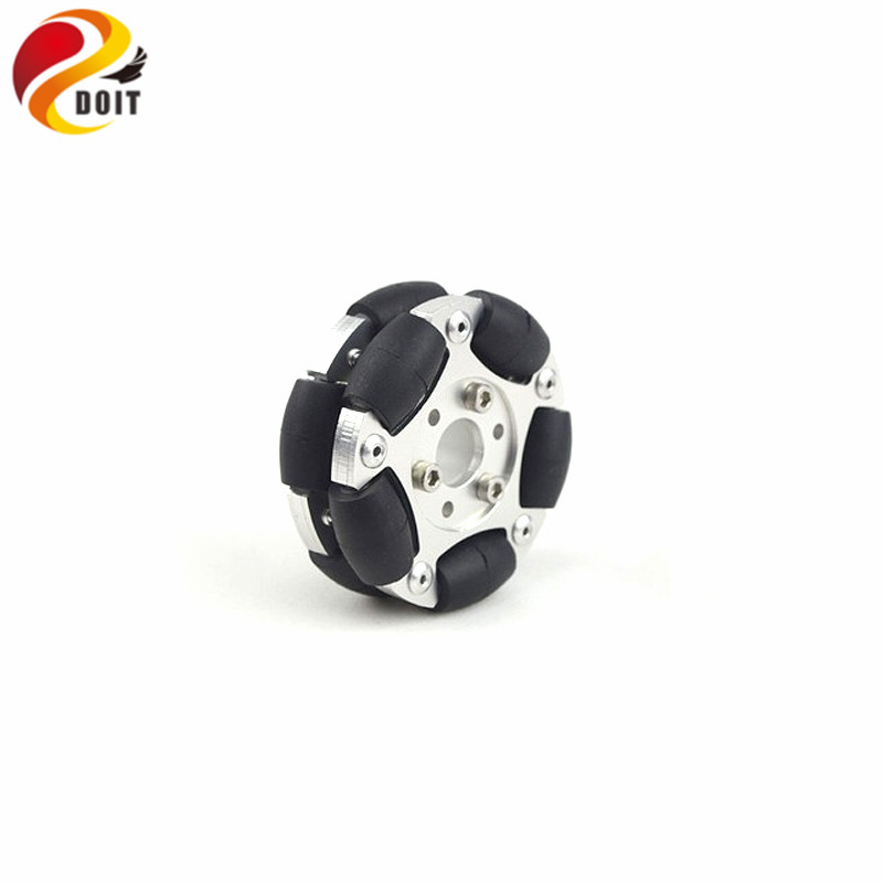 DOIT 60mm Double Omni Wheel Omni-directional Wheel Universal Wheel for Robot Tank Chassis DIY RC Toy verifone vx610 omni 5600