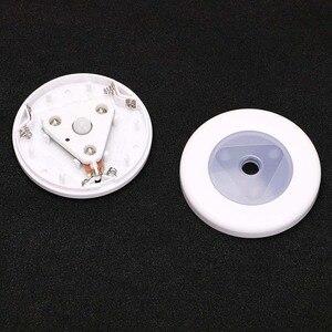 Image 5 - Led Mini Nachtlampje Draadloze Detector Dual Inductie Infrarood Pir Motion Sensor Lamp Wandlamp Trappen Closet Cabinet Light