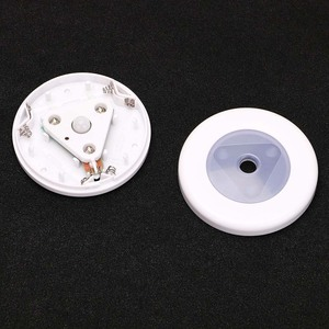 Image 5 - Miniluz LED de noche inalámbrica, Detector de inducción, lámpara con Sensor de movimiento, para pared, armario, escaleras