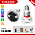 EAZZYDV BC-780C Lâmpada WI-FI Sem Fio P2P HD 720 P 1.0 Megapixel Onvif IP Rede de Vigilância CCTV Camera Suporte E-mail de Alarme