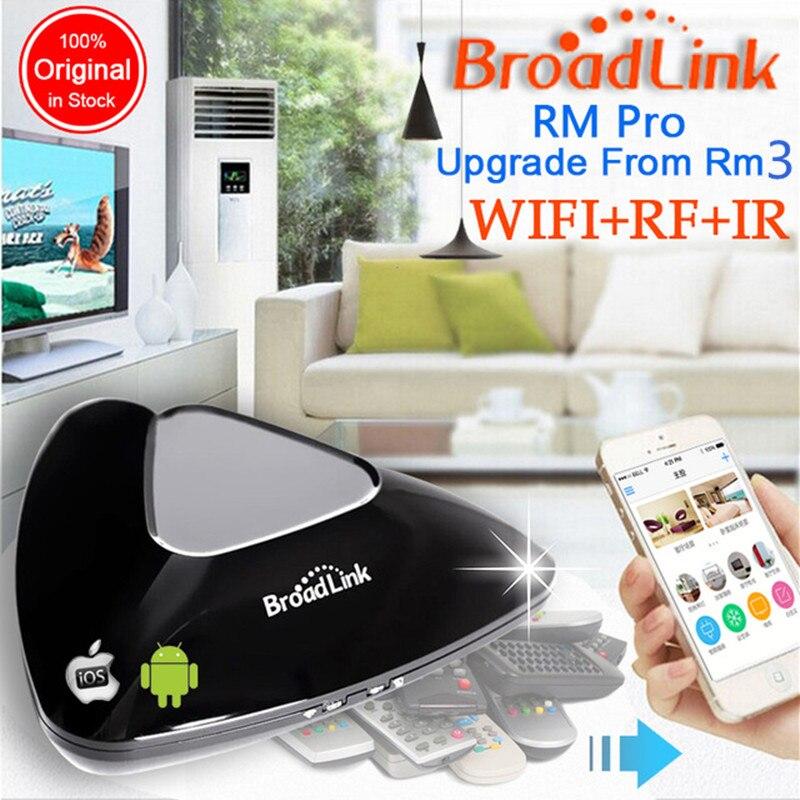 2018 Broadlink RM Pro RM03, Intelligent domotique WIFI + IR + RF Universel Intelligent commutateur de commande à distance pour iphone IOS Android