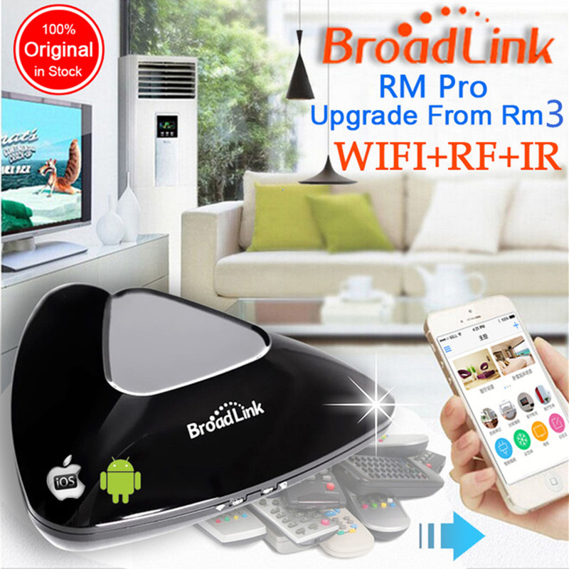 2018 Broadlink RM Pro RM03,Smart home Automation WIFI+IR+RF Universal Intelligent remote control switch for iphone IOS Android broadlink rm pro universal ir remote control smart 433 rf remote compatible alexa for apple xiaomi smartphone home automation
