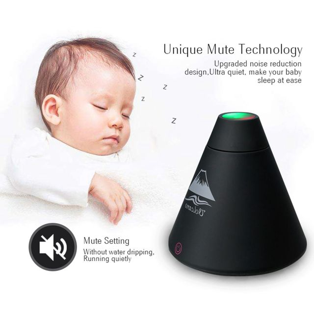 Creative LED 160ML Volcano Style USB Ultrasonic Humidifier With Colorful LED Light ESential Oil Aroma Diffuser Auto Off Touch 3