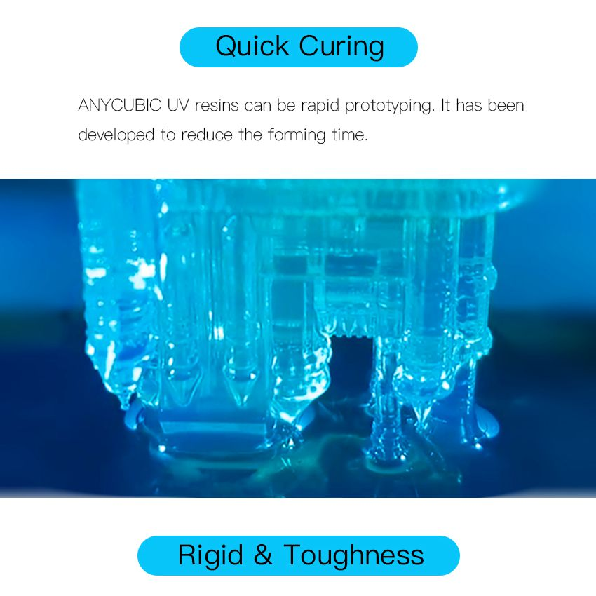 US $37 07 31% OFF ANYCUBIC Printing Material 405nm Resin For Photon LCD UV  Sensitive Normal 500 ml/1L Liquid 3D Printer Photosensitive Uv Resin -in 3D