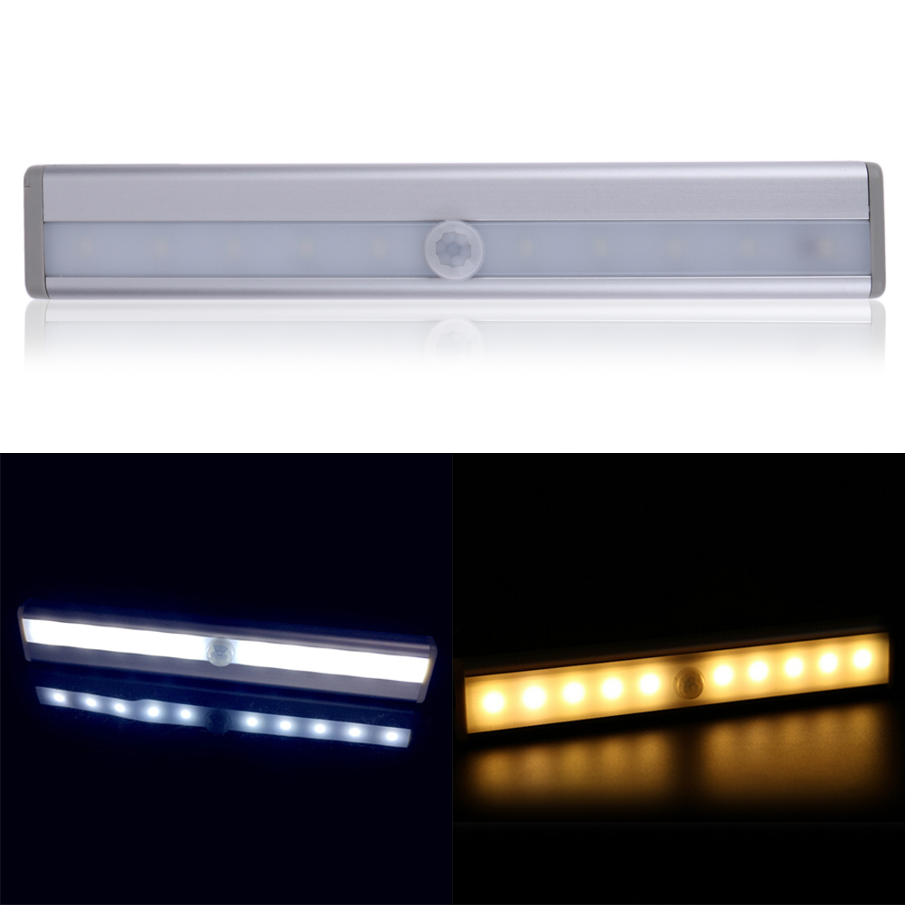10 LED Sensor Light PIR Infrared Motion Detector Night Lights Auto On/Off Wireless Sensor Closet Cabinet Lamp Porch Bedroom battery magnetic led night light infrared ir motion sensor wireless led wall lamp auto on off for closet stairs bedroom cabinet