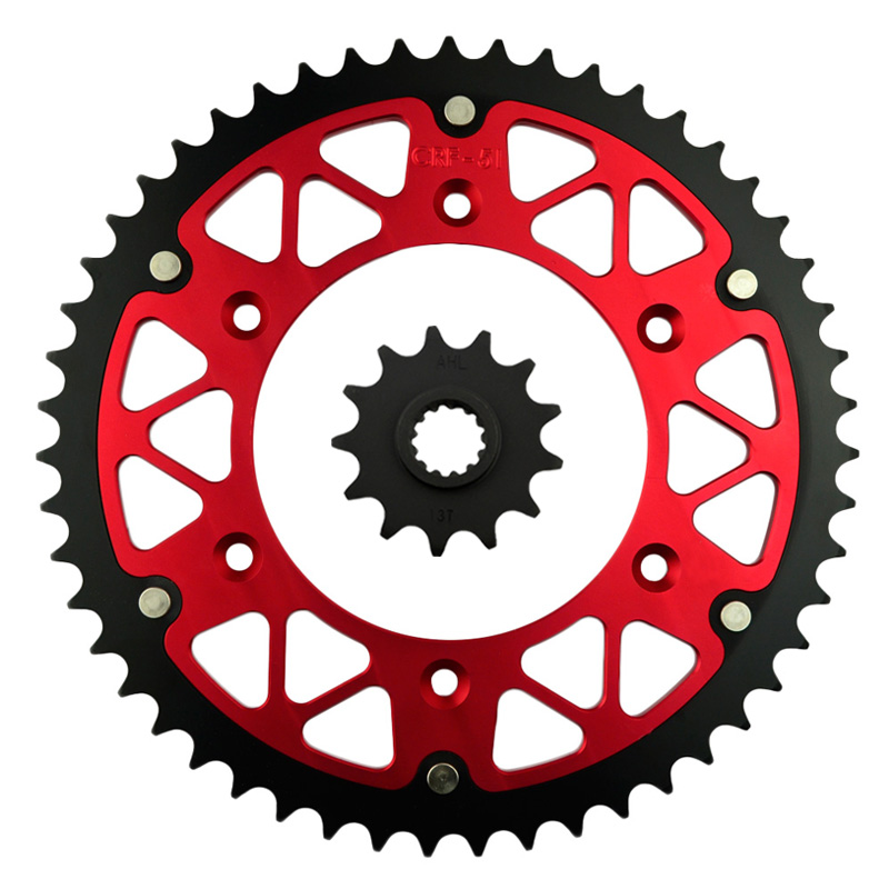 ФОТО High Performance Motorcycle 13T Front & 51T Rear Sprocket  Kit  For HONDA CRF 250 X (USA) CRF 250X CRF250 X 2004-2013