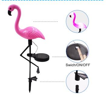 LED Solar Flamingo Light 2