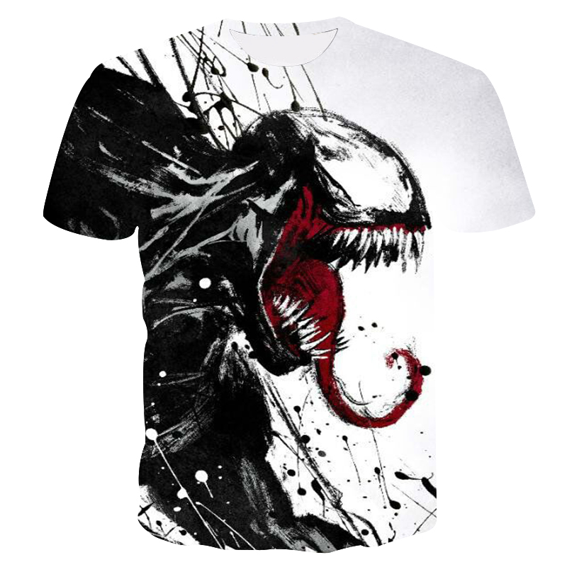 2019 new venom men's t-shirt 3D printing Marvel series casual shirt summer cool T-shirt Fashion trend youth short-sleeved Tops (China)